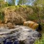 Small the Sablino waterfall